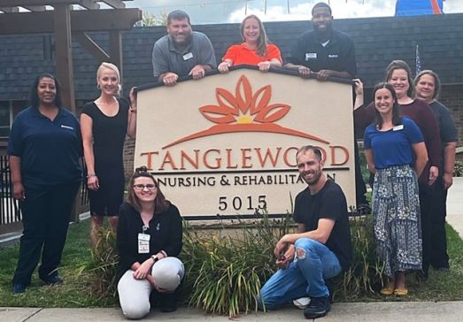 Residents receiving quality healthcare at Tanglewood nursing home in Topeka, KS